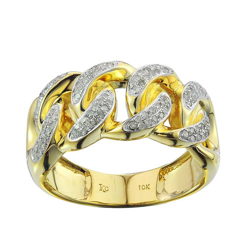 10KY 0.40CT Men's Diamond Band - Top Gold & Diamond Jewelry
