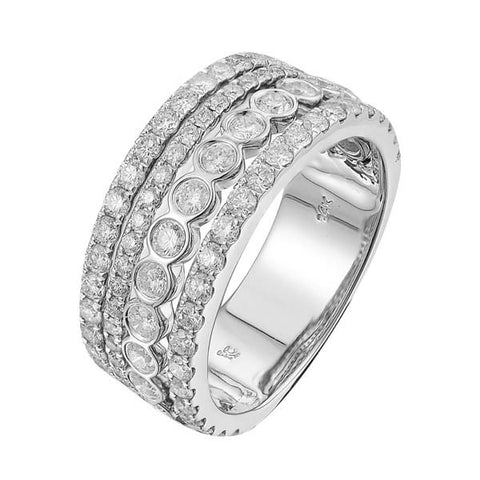 14KW 1.75CT Ladies Diamond Engagement  Ring - Top Gold & Diamond Jewelry
