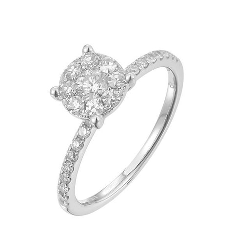14KW 0.55CT Ladies Diamond Bridal Ring - Top Gold & Diamond Jewelry