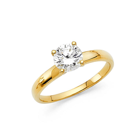 14K CZ Engagement Ring Avg. Weight: 2.6 gr. - Top Gold & Diamond Jewelry