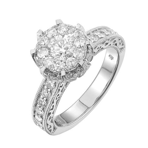 14KW 1.70CT Ladies Diamond Bridal  Ring - Top Gold & Diamond Jewelry