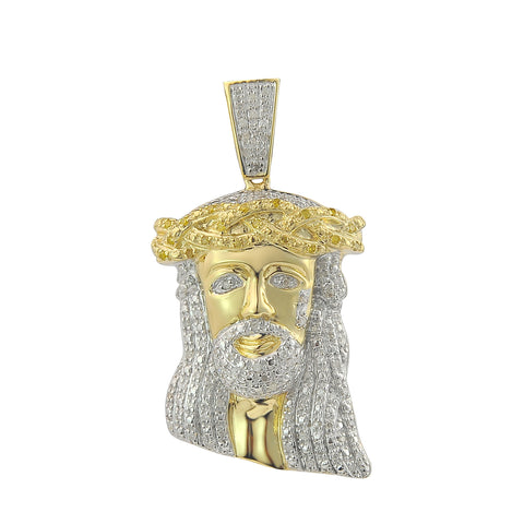 10k Diamond Jesus Pendant - 0.35CT - Top Gold & Diamond Jewelry