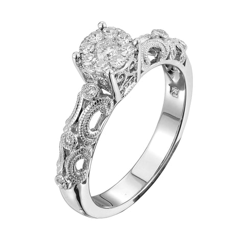 Copy of 14KW 0.29CT Ladies Diamond Bridal Ring - Top Gold & Diamond Jewelry