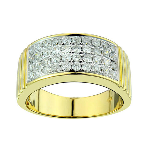 10KY 1.15CT Men's Diamond Ring - Top Gold & Diamond Jewelry