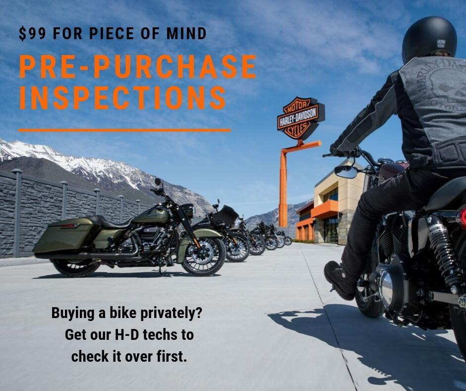 Pre-purchase inspections available now - Rolling Thunder Harley-Davidson