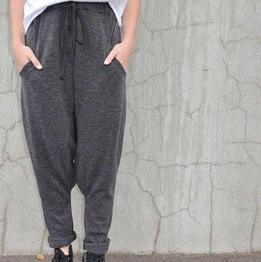 DROP CROTCH TRACK PANT