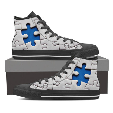 Autism Awareness Men Shoe - Black Sole