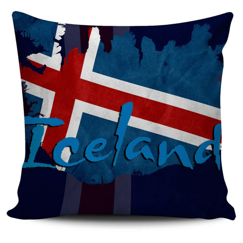Iceland Flag Pillow Cover