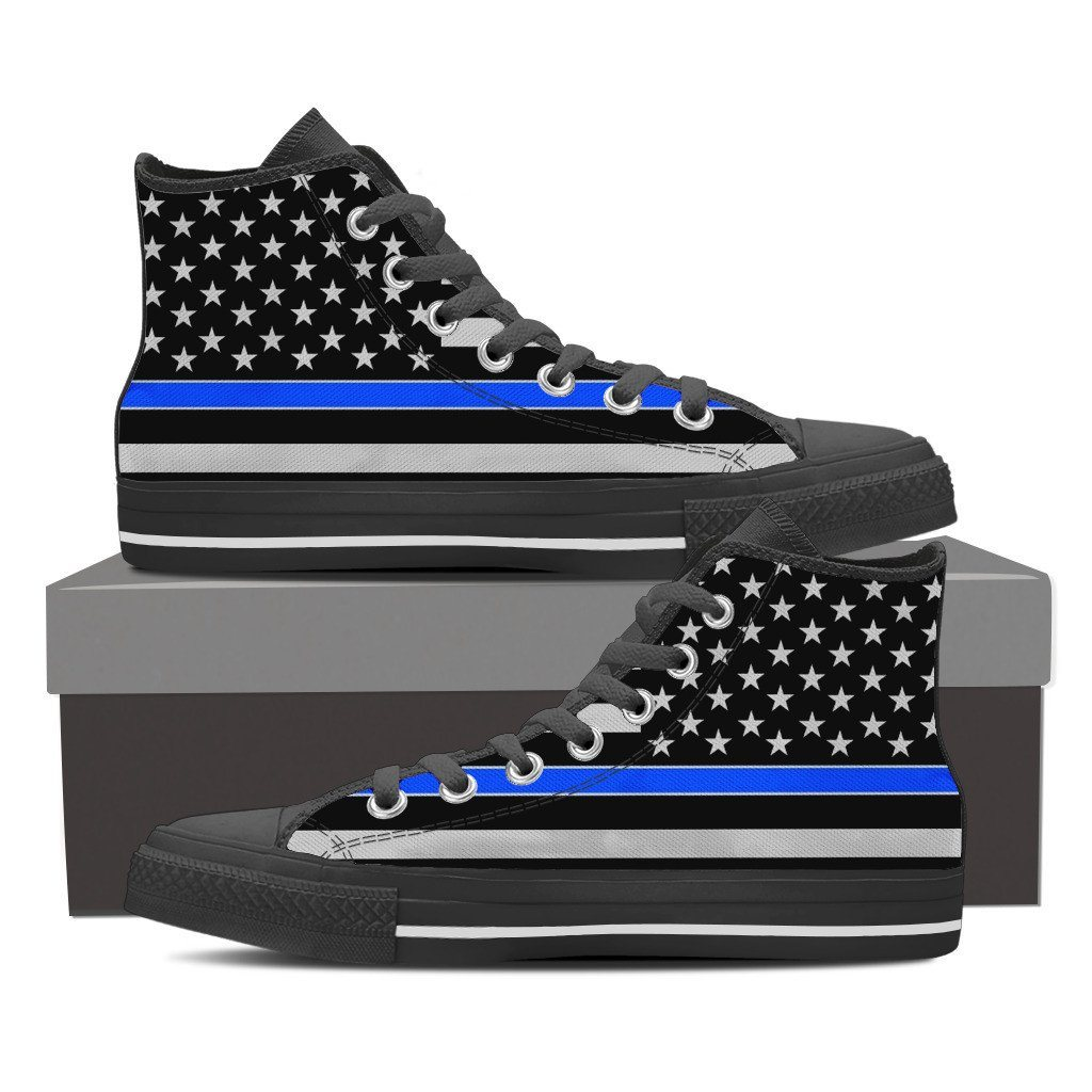 Police Thin Blue Sneakers - Women