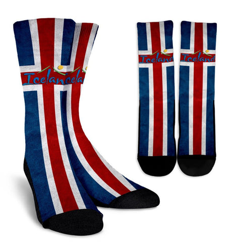 Iceland Flag Socks