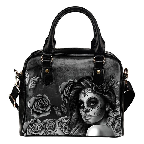 Calavera Handbag - Black & White