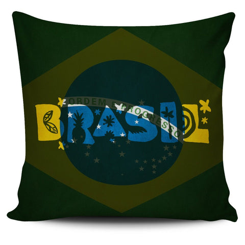 Brasil Flag Pillow Cover