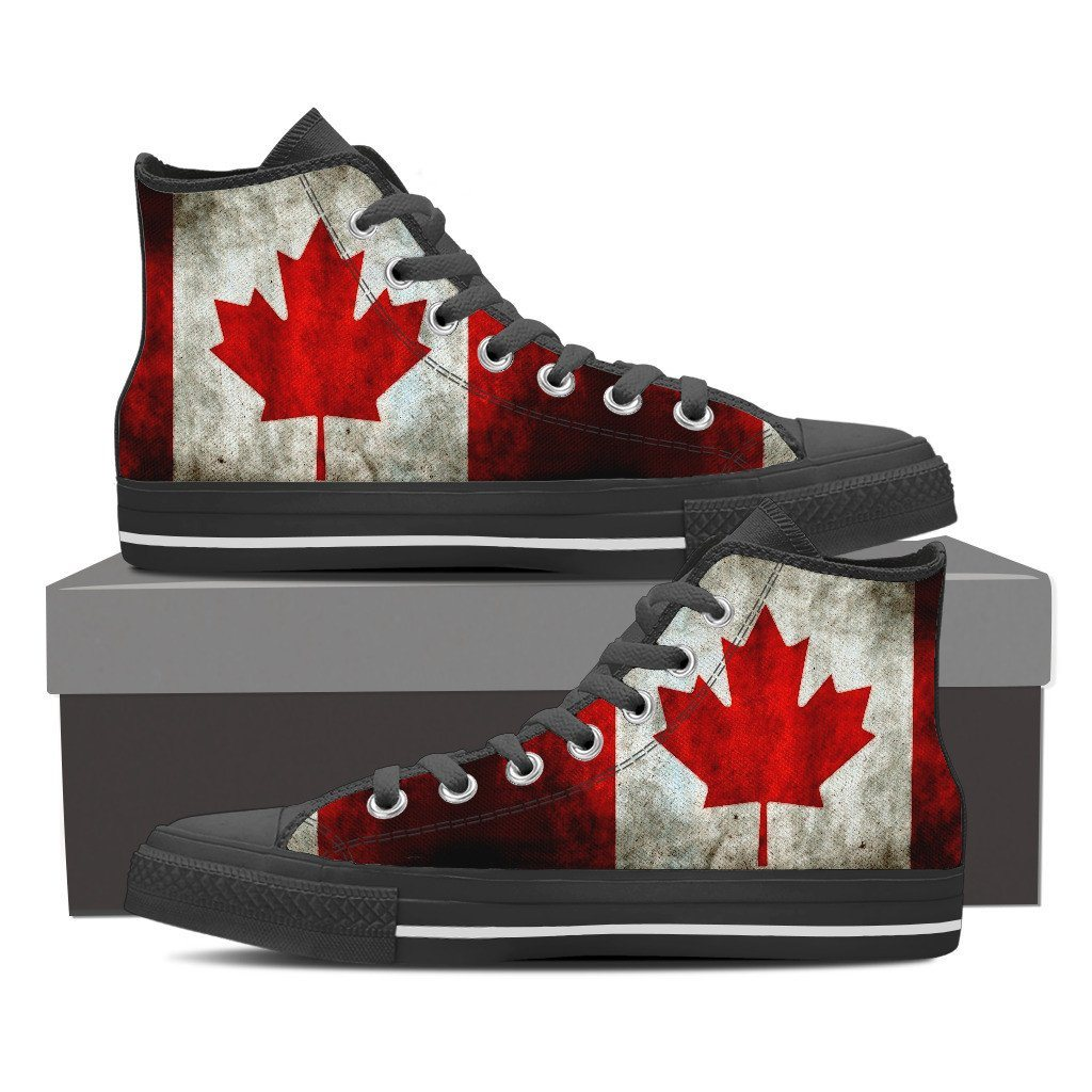 Canada Flag  Sneakers -Women