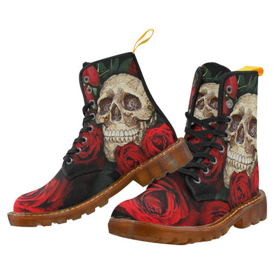 Rose & Skull Martin Boots For Women