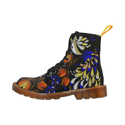 Elegant Flowers Martin Boots For Women