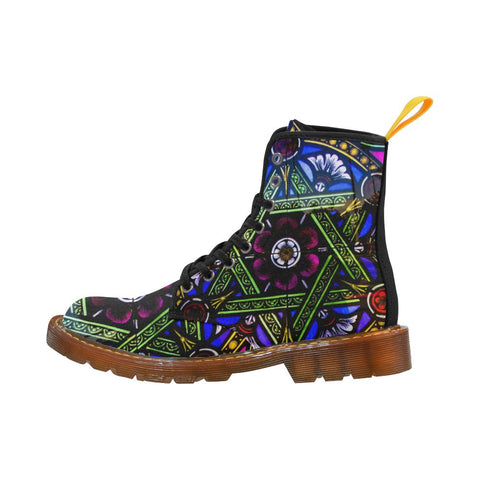 Vitrage Flowers Martin Boots For Women