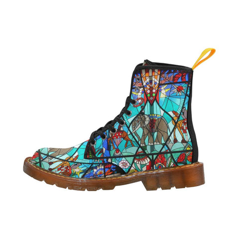 Stained Glass Window Martin Boots For Women