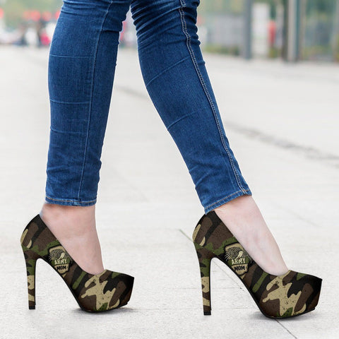 Army Mom Camouflage Heels
