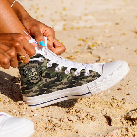 Army Mom Camouflage High Tops