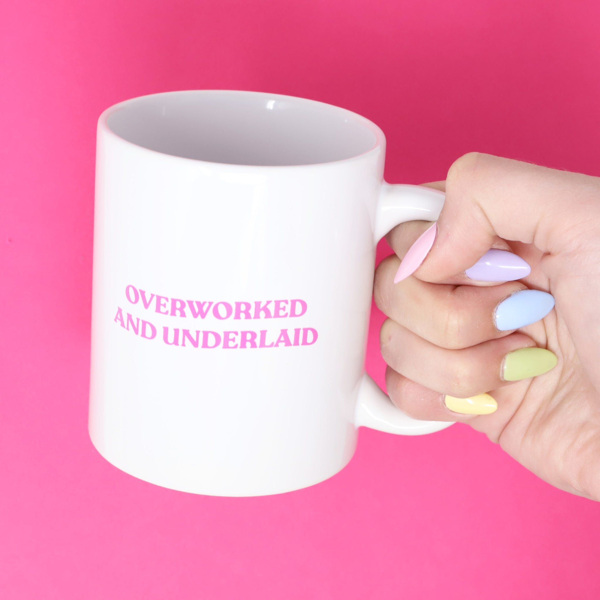 Overworked And Underlaid Mug