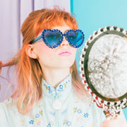 BLUE HEART RHINESTONES SUNNIES