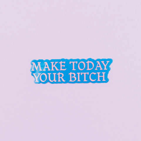 Make today your bitch sticker