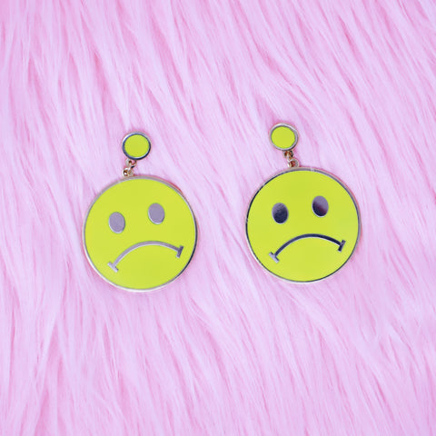 Sad Smiley Face Earrings