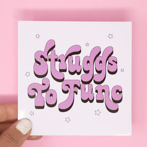 Struggs to func' sticker