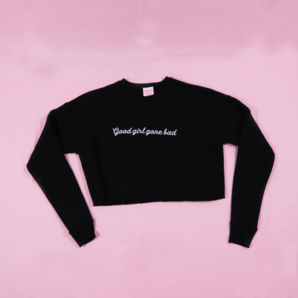 Good Girl Gone Bad Cropped Sweater