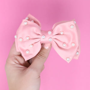 Pink Pearls Bow Hairclip
