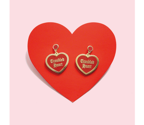 Troubled Heart Earrings