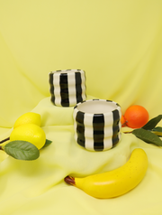 Black&White Stripes planters