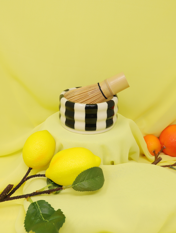 Black&White Stripes matcha bowl / trinket