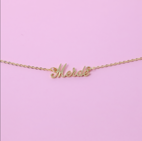 Merde Necklace