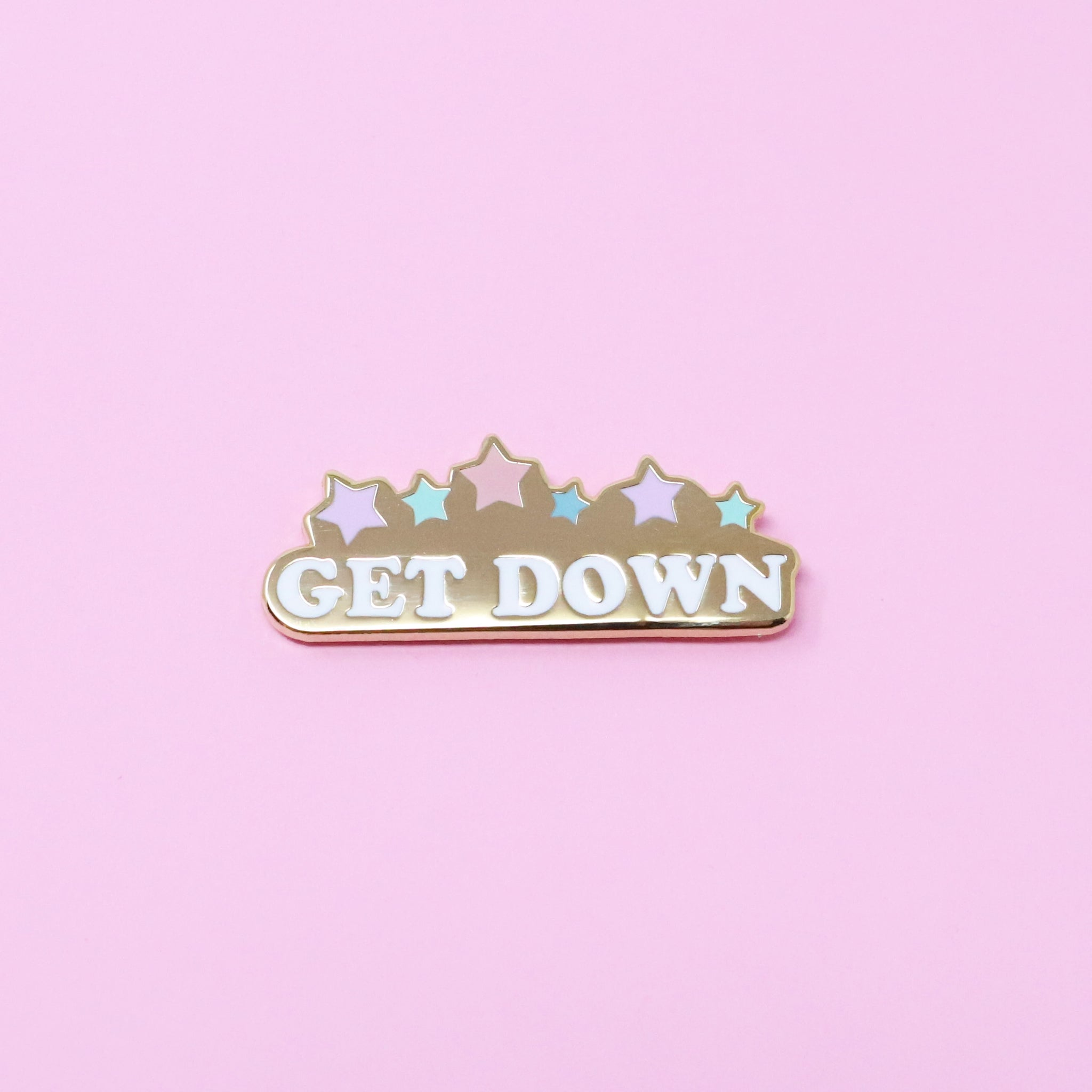 Get down enamel pin
