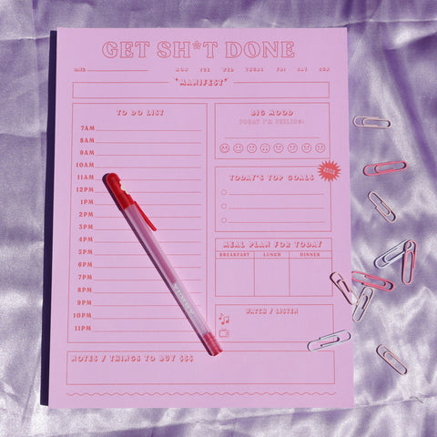 Get shit done ultimate daily planner notepad