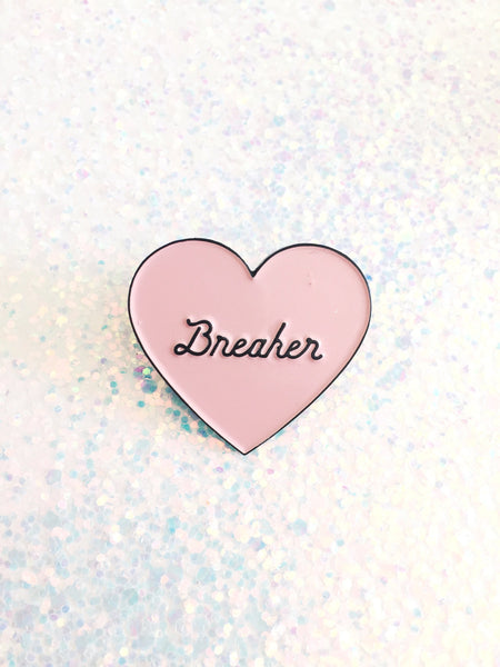 Heartbreaker pin, Lapel pin,Enamel Pin,Cloisonné, pin badge,Flair, Heart enamel pin,Heart lapel pin, Heart pin, Heart button, Heart brooch