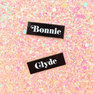 Criminal masterminds BFF pins - Bonnie and Clyde pin
