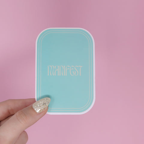 Manifest Blue Sticker