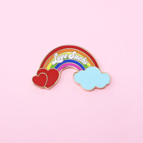 Love sucks enamel pin