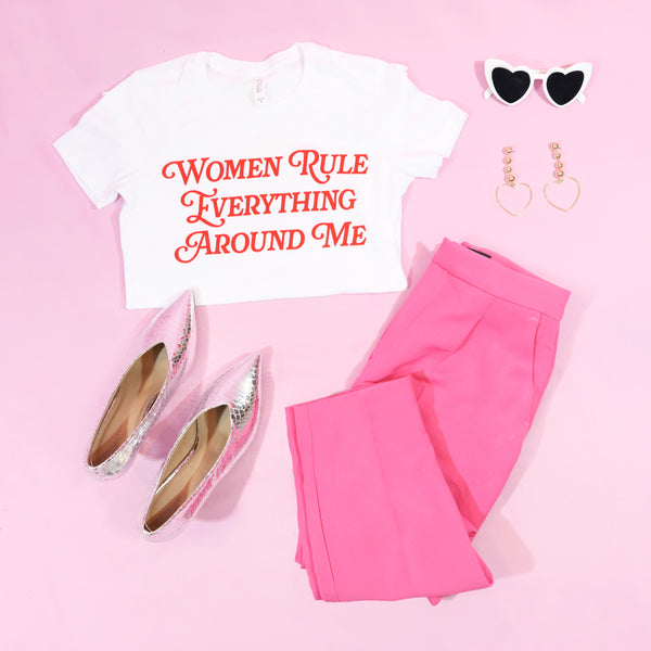 Women rule everything around me T-shirt RED