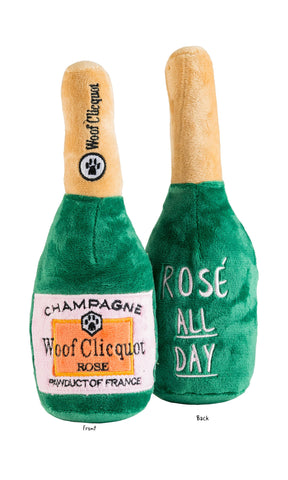 Woof Clicquot Rose' Champagne Bottle - Large