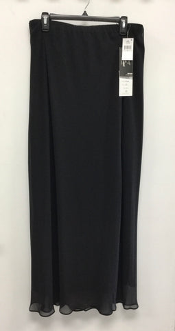 Alex Evenings Plus Long A Line Skirt - Black