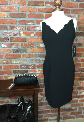 Karl Lagerfeld Pearl Embellished Sheath Dress Black