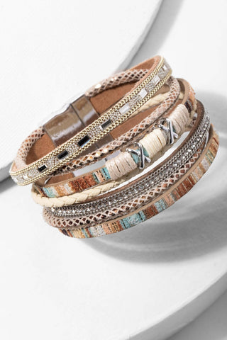 Sweet Sands Multi Strand Leather Bracelet