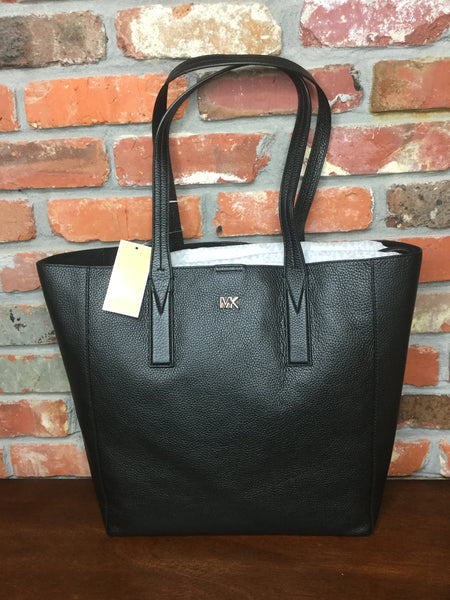 Michael Kors Junie Large Pebbled Leather Tote - Black
