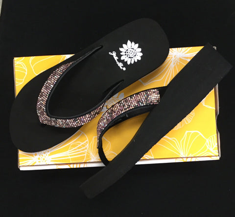 Yellow Box Mersaydee Rhinestone Platform Flip Flop - Purple Multi