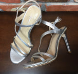 Vince Camuto Imagine Gian Sandal Platinum Metallic Lizard