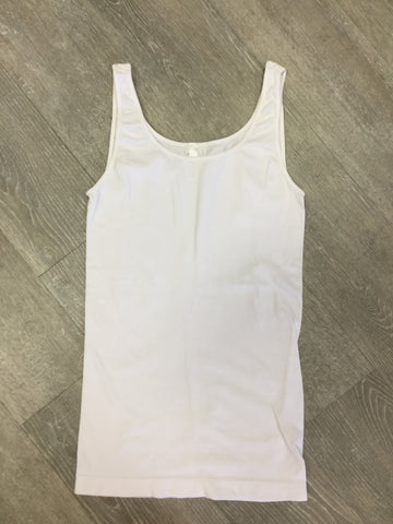 Must Have Fave Jersey Layering Tank - One Size - White