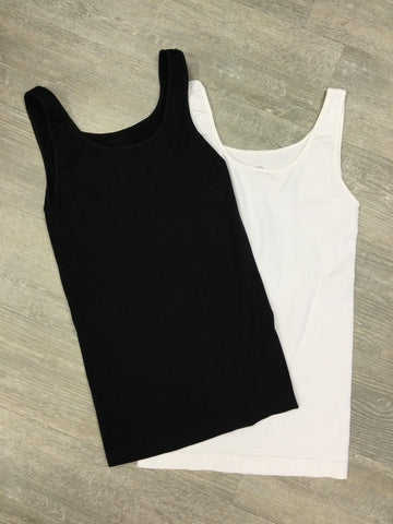 Must Have Fave Jersey Layering Tank - One Size - Black